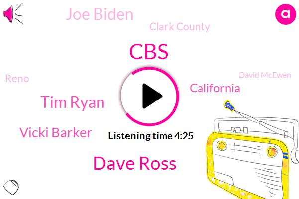 CBS,Dave Ross,Tim Ryan,Vicki Barker,California,Joe Biden,Clark County,Reno,David Mcewen,Capital One,Mr Trump,San Francisco,Reporter,Bronx