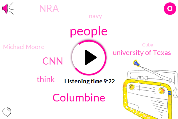 Columbine,CNN,University Of Texas,NRA,Navy,Michael Moore,Cuba,Tony Cooper,Mississippi,Texas Tower,Pearl Mississippi,Texas,Chicago,FOX,Chad,Texas University,GEE