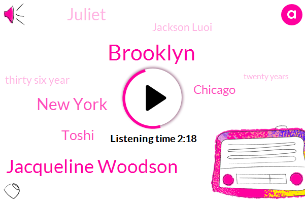Brooklyn,Jacqueline Woodson,New York,Toshi,Chicago,Juliet,Jackson Luoi,Thirty Six Year,Twenty Years,Seven Years