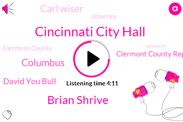 Cincinnati City Hall,Brian Shrive,Columbus,David You Bull,Clermont County Republican Party,Carl Wiser,Attorney,Clermont County,Producer,Hamilton County,Forgery,City Council,Sherry Coolidge,Jason,Chairman,Finch,Jesse Bomber,Editor,Commissioner