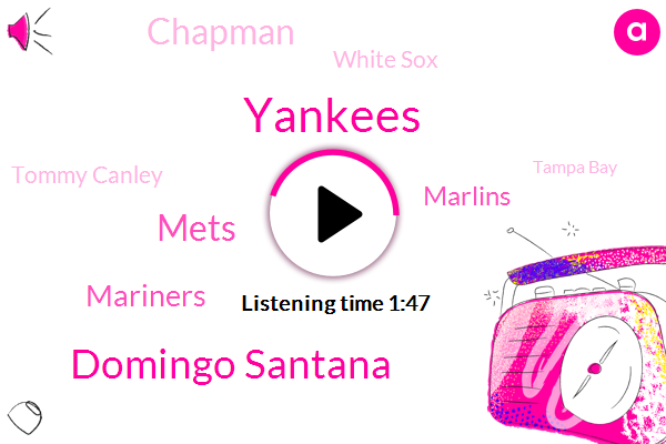 Yankees,Domingo Santana,Mets,Marlins,Mariners,Chapman,White Sox,Tommy Canley,Tampa Bay,Astrada,Astros,John Sterling,Zach Britton,Citi Field,Tigers,Diamondbacks,Jed Lowrie,Dominic Smith,Cubs,Cardinals