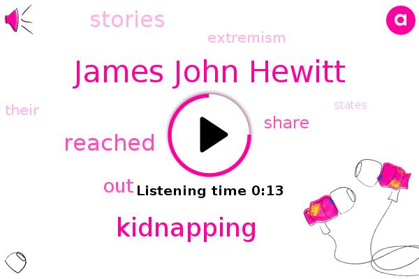 James John Hewitt,Kidnapping