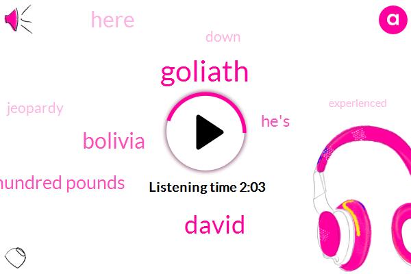 Goliath,David,Bolivia,Hundred Pounds