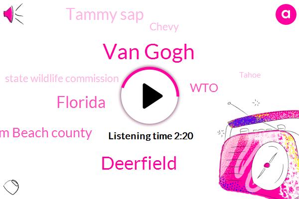 Van Gogh,Deerfield,Florida,Palm Beach County,WTO,Tammy Sap,Chevy,State Wildlife Commission,Tahoe,Ricky Bowl,Newstalk,Mount Dora,Dolphins,Patrick,Twenty Fifth,Eight Fifty W,Eight Years