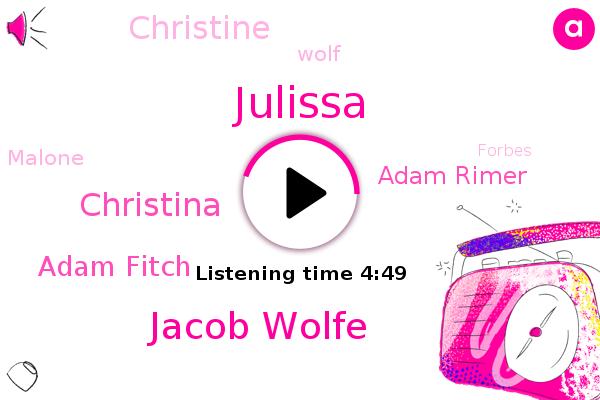 Julissa,Forbes,Jacob Wolfe,Christina,Adam Fitch,Adam Rimer,Envy Gaming,Linkedin,Espn,Christine,Wolf,Twitter,Mexico,Malone