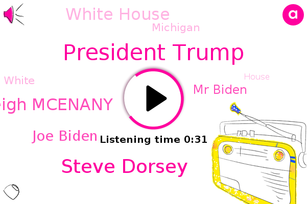 President Trump,Steve Dorsey,Kayleigh Mcenany,White House,Joe Biden,Mr Biden,Michigan