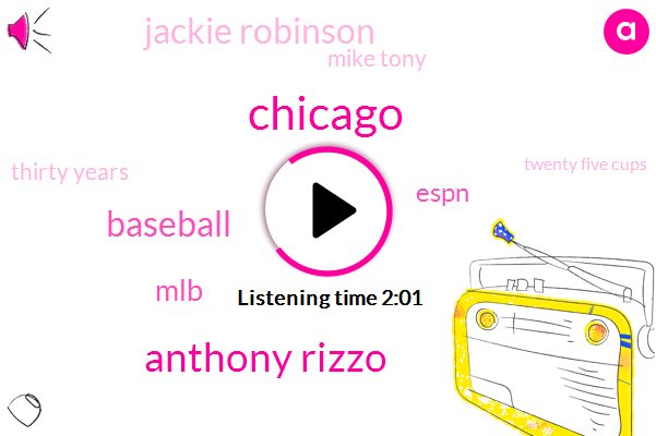 Chicago,Anthony Rizzo,MLB,Espn,Baseball,Jackie Robinson,Mike Tony,Thirty Years,Twenty Five Cups,Forty Degrees,Three Days
