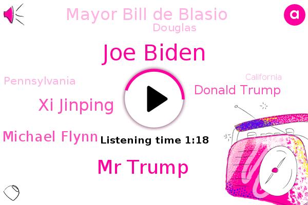 Joe Biden,Mr Trump,Xi Jinping,Michael Flynn,Donald Trump,Pennsylvania,Mayor Bill De Blasio,California,Texas,New York City,Douglas