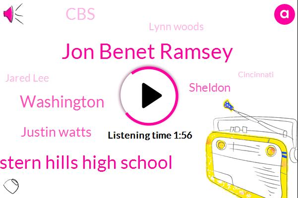 Jon Benet Ramsey,Western Hills High School,Washington,Justin Watts,Sheldon,CBS,Lynn Woods,Jared Lee,Cincinnati,Nick Santa,PG,Mason,Georgetown,Atlanta,Attorney,Officer,Amelia,One Million Dollars,Twenty-Seven-Year