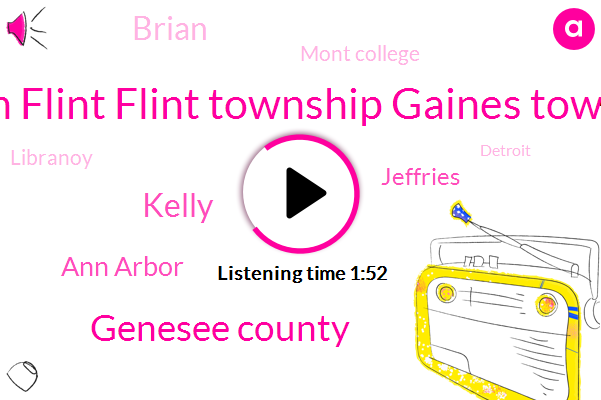 Burton Flint Flint Township Gaines Township,Genesee County,Kelly,Ann Arbor,Jeffries,Brian,Mont College,Libranoy,Detroit,Iris Winchester,Pasco,Oak Park,Patriots,Executive,Director,Twenty Million Dollar,Eighty Five Degrees,Sixty Seven Degrees