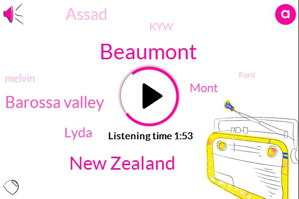 Beaumont,New Zealand,Barossa Valley,Lyda,Mont,Assad,KYW,Melvin,Ford,Jane,Seventy Five Kilometers