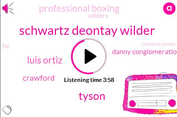 Schwartz Deontay Wilder,Tyson,Luis Ortiz,Crawford,Danny Conglomeration,Professional Boxing,Wilders,Crawford County,JAY,Donald Siri,Wallin,Anthony Joshua,Garcia,Fifteen Million Dollars,Three Minutes