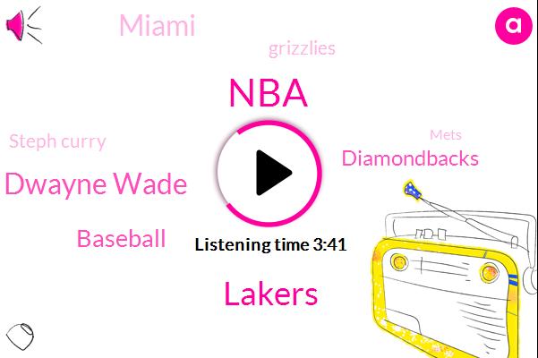 NBA,Lakers,Dwayne Wade,Baseball,Diamondbacks,Miami,Grizzlies,Steph Curry,Mets,Detroit,Knicks,Lebron James,Luke Walton,Bulls,Jarrod Dyson,Magic Johnson,Mariners,Espn,Russell Westbrook,Dirk Nowitzki