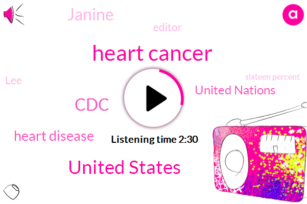 Heart Cancer,United States,CDC,Heart Disease,United Nations,Janine,Editor,LEE,Sixteen Percent,Thirty Year