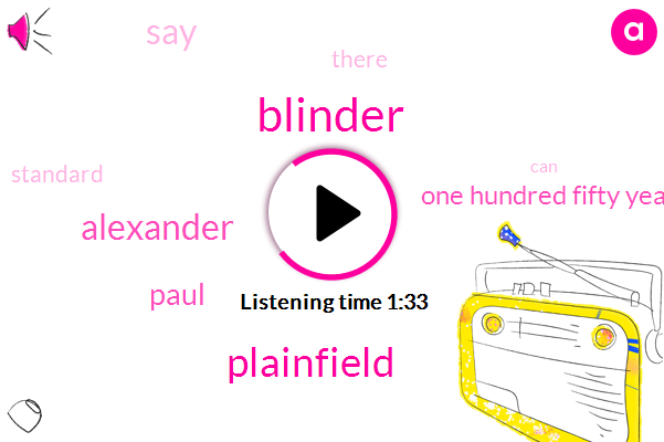 Blinder,Plainfield,Crowder,Alexander,Paul,One Hundred Fifty Years