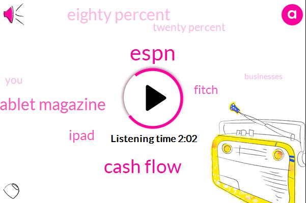 Espn,Cash Flow,Tablet Magazine,Ipad,Fitch,Eighty Percent,Twenty Percent