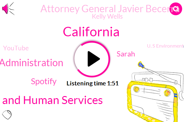 Department Of Health And Human Services,Trump Administration,California,Spotify,Sarah,Attorney General Javier Becerra,Kelly Wells,Youtube,U. S Environmental Protection Agency,EPA,Attorney,Cole