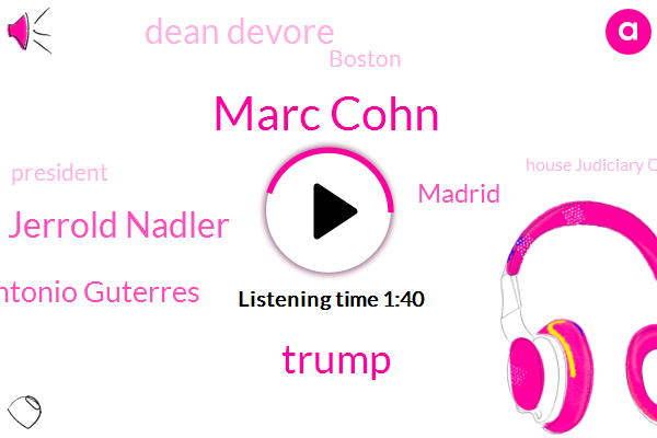 Marc Cohn,Donald Trump,Jerrold Nadler,Antonio Guterres,Madrid,Dean Devore,Boston,President Trump,House Judiciary Committee,London,Nato,Three Days,Twelve Inches,Ten Day