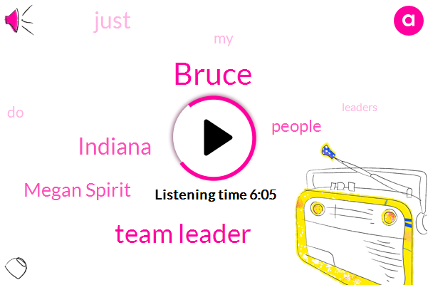 Bruce,Team Leader,Indiana,Megan Spirit