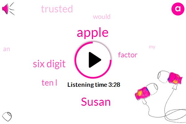 Apple,Susan,Six Digit,Ten L