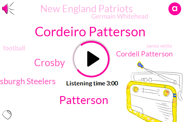 Cordeiro Patterson,Patterson,Crosby,Pittsburgh Steelers,Cordell Patterson,New England Patriots,Germain Whitehead,Football,James White,Tom Brady,Drive,Packers,Kerry Barner,Aaron Rodgers,NFL,Blake Martinez,Rob Gronkowski,New England,Cordeiro,Emmy
