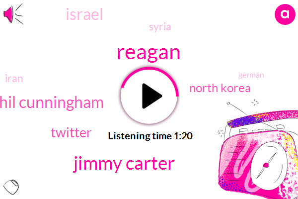 Jimmy Carter,North Korea,South Korea,Syria,Israel,Twitter,Phil Cunningham,Reagan,Iran,Willie,Seven Hundred W,Forty Five Minutes,Seventy One Year,Twelve Years