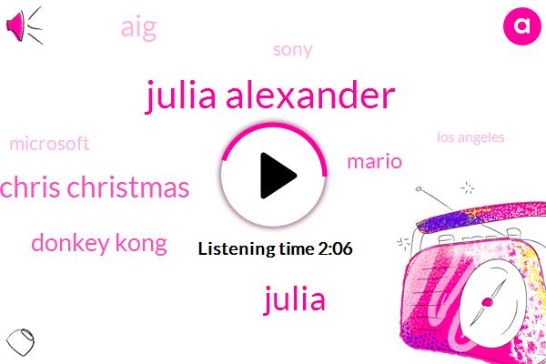 North America,Julia Alexander,Los Angeles,Reporter,Publisher,Sony,Chris Christmas,Mario,Santa,AIG,Developer,Microsoft
