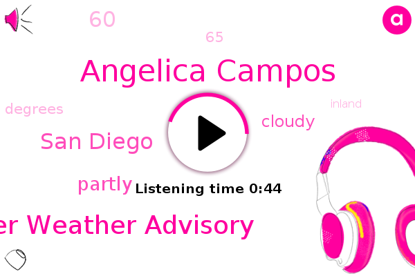 Angelica Campos,Winter Weather Advisory,San Diego