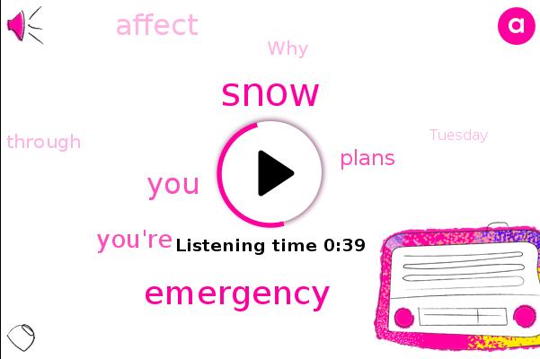Listen: Snow Emergency declared in Washington D.C. as snow sticks