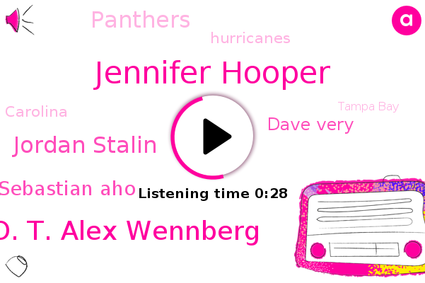 Jennifer Hooper,Panthers,O. T. Alex Wennberg,Hurricanes,Jordan Stalin,Sebastian Aho,Tampa Bay,Carolina,Dave Very