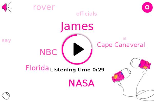 Nasa,Cape Canaveral,Florida,James,NBC