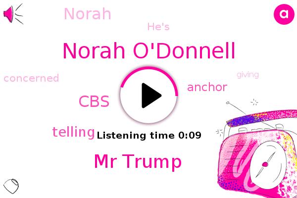 Norah O'donnell,Mr Trump,CBS