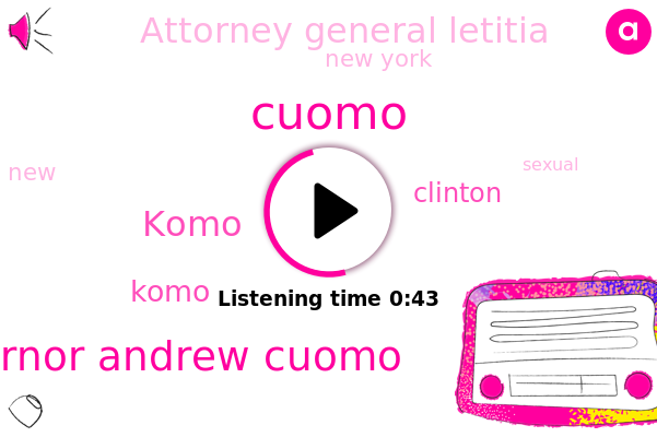 Governor Andrew Cuomo,Komo,New York,Clinton,Cuomo,Attorney General Letitia