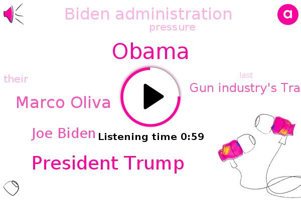 President Trump,Marco Oliva,Gun Industry's Trade Association,Biden Administration,Barack Obama,Joe Biden