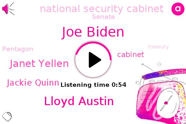 Joe Biden,National Security Cabinet,Cabinet,Lloyd Austin,Senate,Pentagon,Janet Yellen,Treasury,Army,Congress,Jackie Quinn,Washington