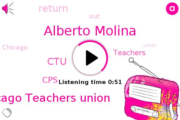 Chicago Teachers Union,CTU,Alberto Molina,CPS