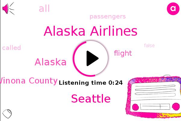 Listen: Man arrested after making false security threat on Alaska Airlines flight leaving from Seattle