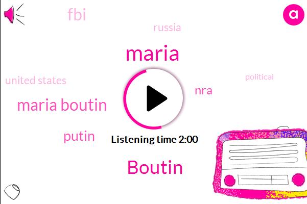 Boutin,Maria Boutin,Russia,Maria,NRA,FBI,United States,Putin