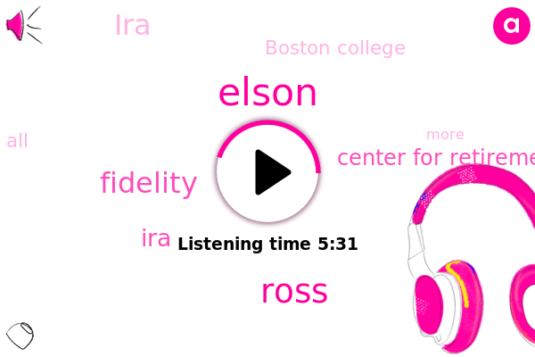 Fidelity,IRA,Elson,Center For Retirement Research,Ross,Boston College