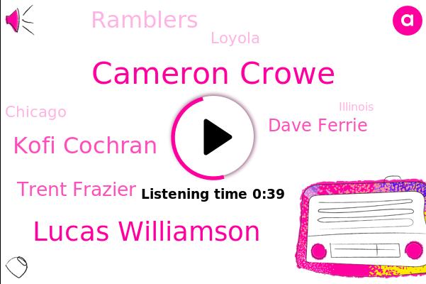 Cameron Crowe,Loyola,Lucas Williamson,Chicago,Illinois,Kofi Cochran,Ramblers,Trent Frazier,Dave Ferrie