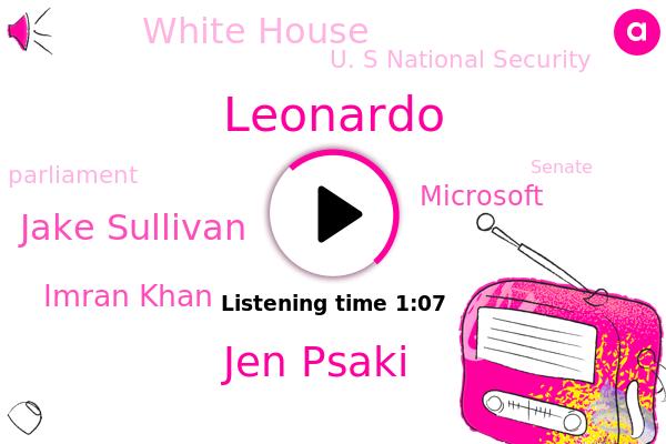 Jen Psaki,White House,U. S National Security,Jake Sullivan,Leonardo,Microsoft,China,Imran Khan,Pakistan,Islamabad,Parliament,United States,Senate