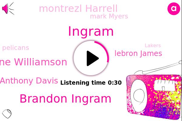 Brandon Ingram,Pelicans,Dianne Williamson,Lakers,New Orleans,Ingram,Anthony Davis,Lebron James,Montrezl Harrell,LA,Mark Myers