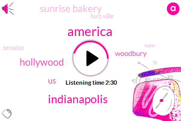 America,Indianapolis,Hollywood,United States,Woodbury,Sunrise Bakery,Fort Ville,Senator,Katie