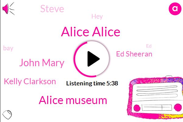 Alice Alice,Alice Museum,John Mary,Kelly Clarkson,Ed Sheeran,Steve