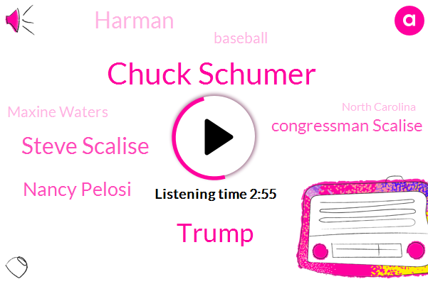 Chuck Schumer,Donald Trump,Steve Scalise,Nancy Pelosi,Congressman Scalise,Harman,Baseball,Maxine Waters,North Carolina,Congress,Wyoming,Castro Valley,Representative,California,Illinois,Eric,Two Days