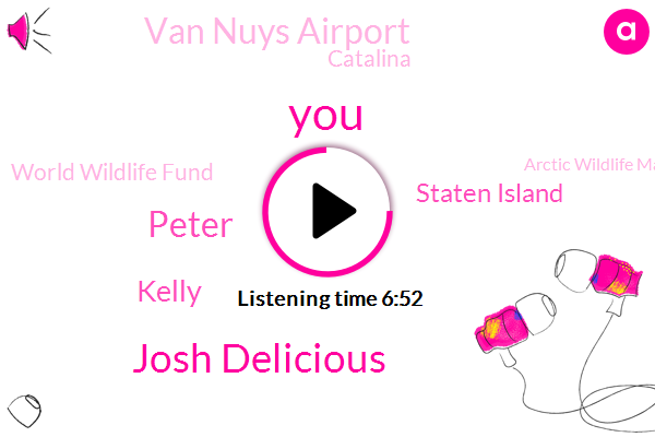 Josh Delicious,Peter,Kelly,Staten Island,Van Nuys Airport,Catalina,World Wildlife Fund,Arctic Wildlife Manager,Kelly Edward,Kelly Edwards,Elizabeth Kruger,Elliott,New Jersey Staten Island,Laura Croft,Los Angeles,Burbank,Lara Croft,Tom Hanks,California,Newt