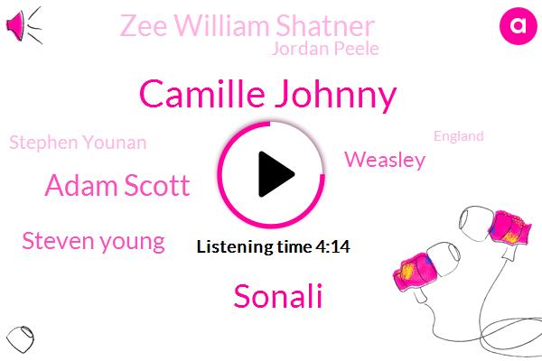 Camille Johnny,Sonali,Adam Scott,Steven Young,Weasley,Zee William Shatner,Jordan Peele,Stephen Younan,England,NPR,Basketball,Executive,IAN,Fifty Five Minutes