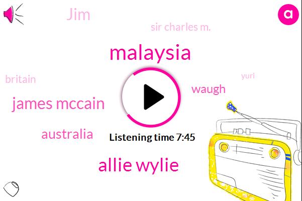 Allie Wylie,James Mccain,Malaysia,Waugh,Australia,JIM,Sir Charles M.,Britain,Yuri,John Wall,Italy,Ben Mohammed,Three Months
