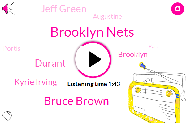 Brooklyn Nets,Bruce Brown,Durant,Kyrie Irving,Brooklyn,Jeff Green,Augustine,Portis,Port