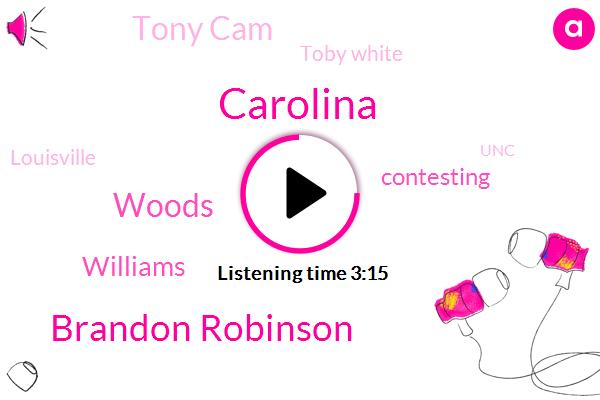 Carolina,Brandon Robinson,Woods,Williams,Contesting,Tony Cam,Toby White,Louisville,UNC,Cardinals,Basketball,Eric,Doug,Learfield,Johnson,Kobe